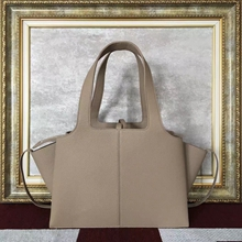 Celine Small Tri-Fold Shoulder Bag in Grey Leather