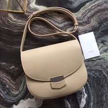 Celine Medium Trotteur Bag In Beige Epsom Leather