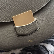 Celine Medium Trotteur Bag In Etoupe Epsom Leather