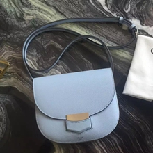 Celine Small Trotteur Bag In Celeste Epsom Leather