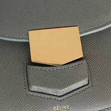 Celine Small Trotteur Bag In Grey Epsom Leather