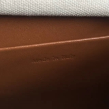 Celine Small Trotteur Bag In Tan Calfskin