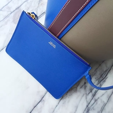 Celine Small Twisted Cabas Bag In Blue/Khaki Calfskin