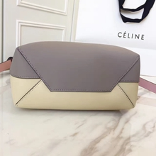 Celine Small Twisted Cabas Bag In Grey/Cream Calfskin