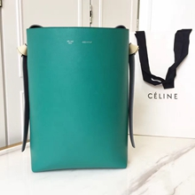 Celine Small Twisted Cabas Bag In Marble/Black Calfskin
