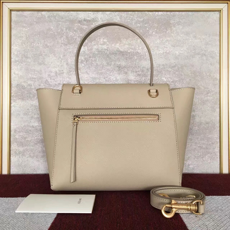 Celine Micro Belt Tote Bag In Beige Epsom Leather - Click Image to Close