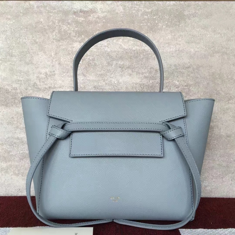 Celine Micro Belt Tote Bag In Celeste Epsom Leather - Click Image to Close