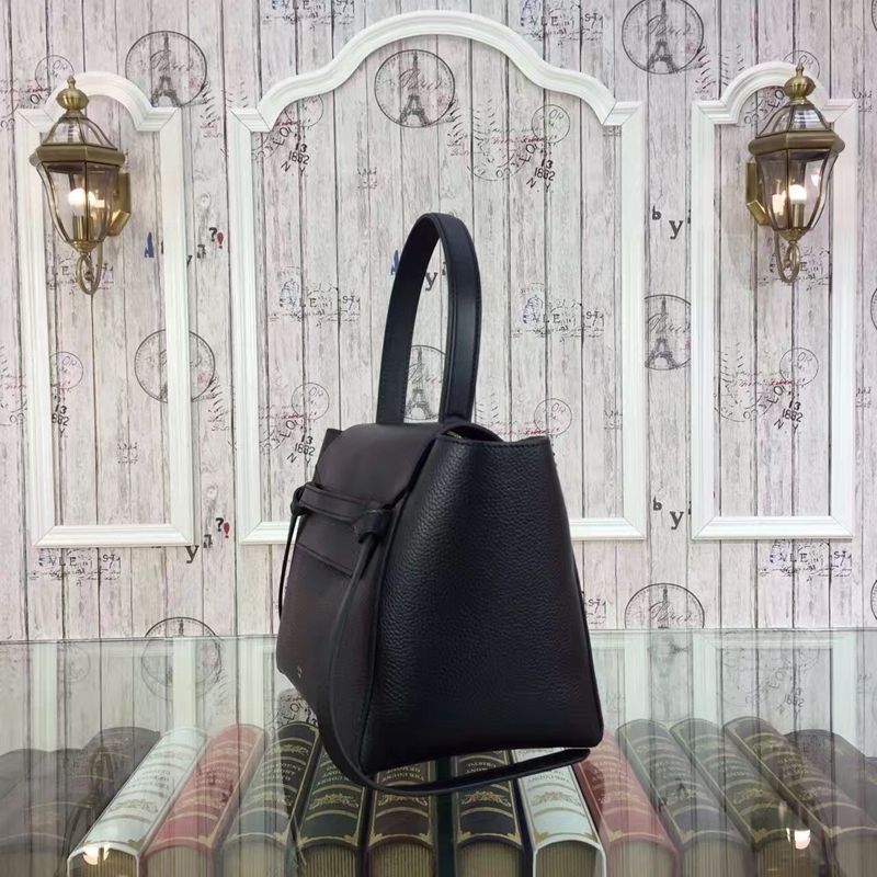 Celine Mini Belt Tote Bag In Black Grained Leather - Click Image to Close