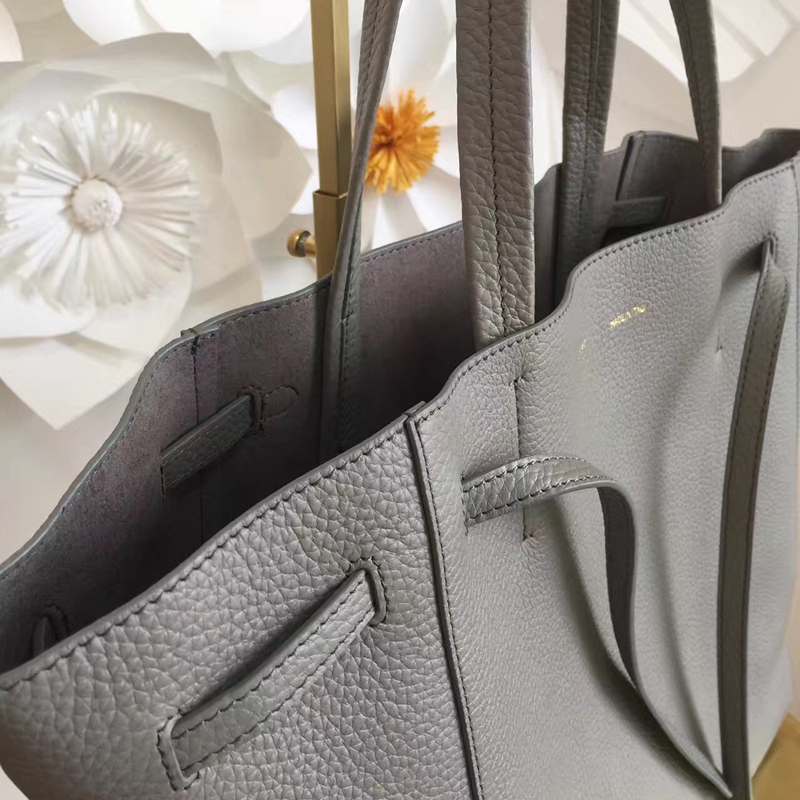 9ffdbaea139a Celine Small Cabas Phantom Bag With Belt In Grey Leather  Model-1134 ...