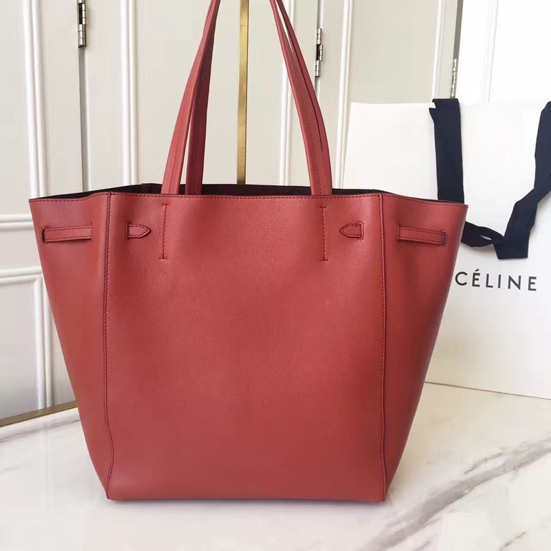 Celine Small Cabas Phantom With Tassels In Brick Leather - Click Image to Close