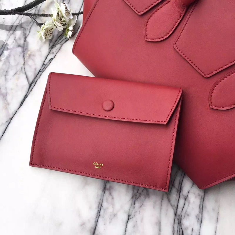 Celine Small Tie Tote Bag In Bordeaux Calfskin - Click Image to Close