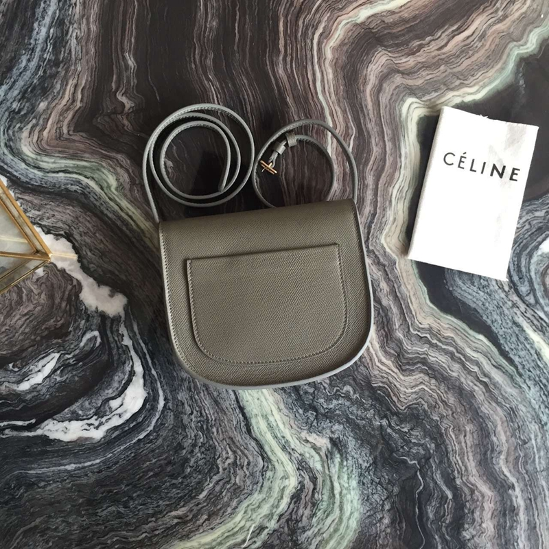 Celine Small Trotteur Bag In Grey Epsom Leather - Click Image to Close