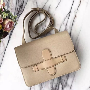 Celine Symmetrical Bag In Beige Epsom Leather